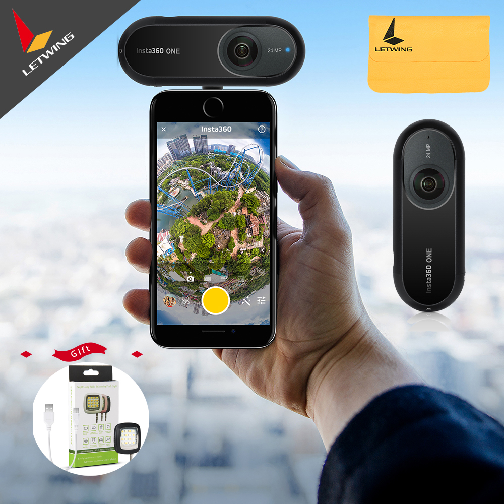 Insta360 ONE 4K 360 VR Video Action Sport Camera 24MP Bullet Time 6-Axis Gyroscope Support BT Bluetooth for iPhone Cam