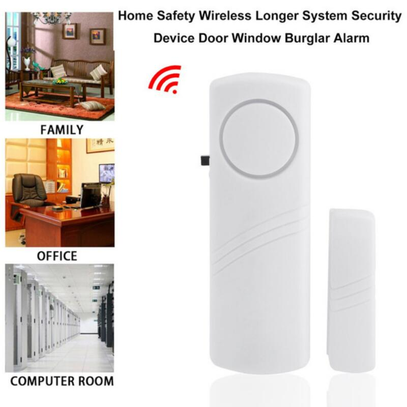 Door Window Wireless Burglar Alarm with Magnetic Sensor Home Safety Wireless Longer System Security Device 90dB White Wholesale стоимость