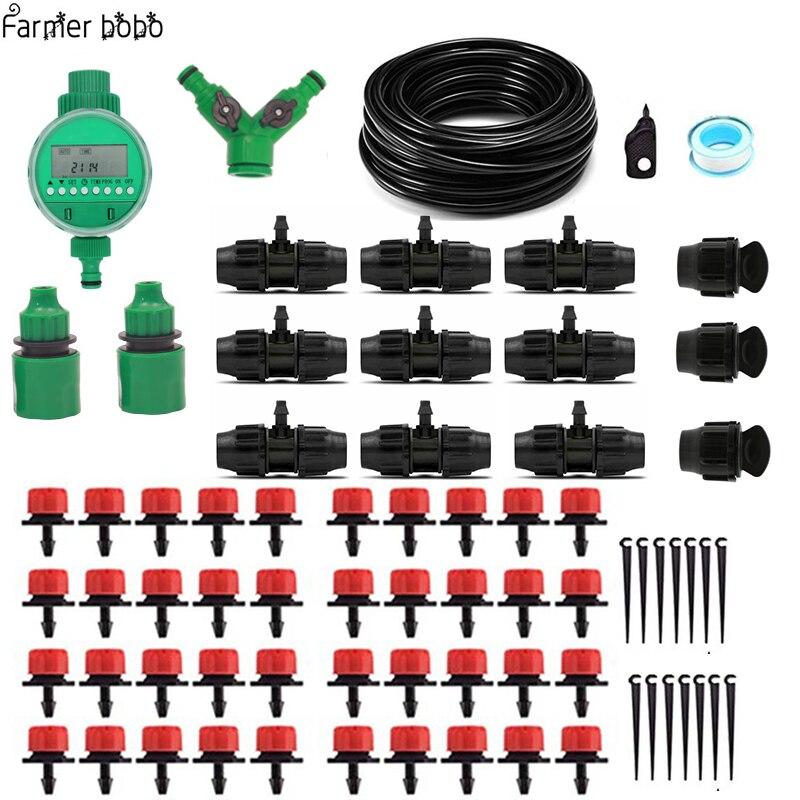 25 mt Garten DIY Automatische Bewässerung Micro Drip Bewässerung System Garten Selbst Bewässerung Kits mit Einstellbare Tropf 811 + 47mm schlauch
