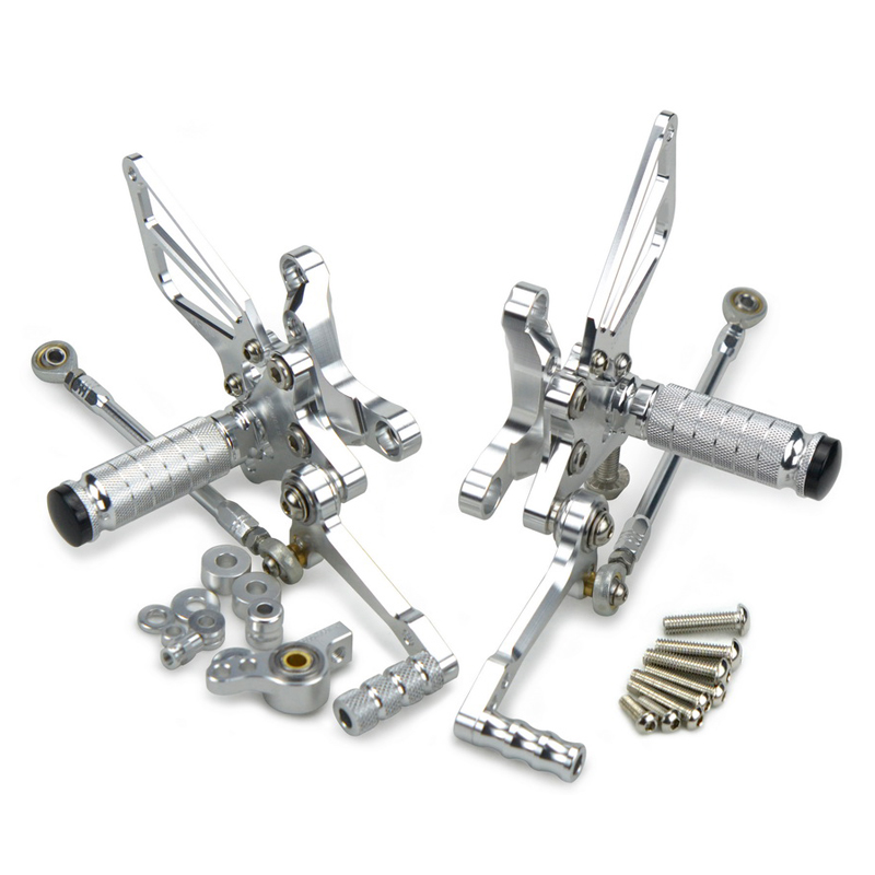 Adjustable Rear Sets Foot Pegs Rest Footrest For Ducati 1098 S Tricolore R 1198 R S 848 EVO Aluminum CNC Footpegs Hot Sale
