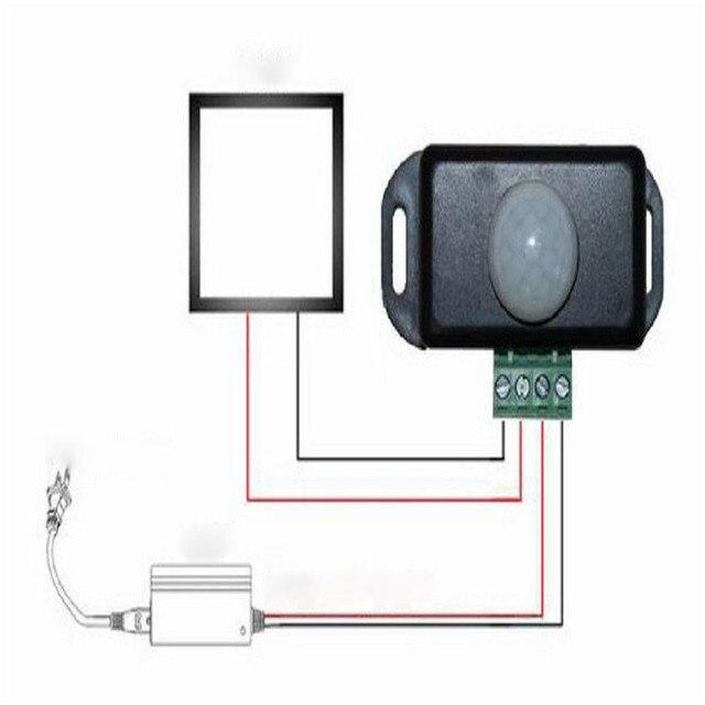 Automatic DC 12V-24V 8A Infrared PIR Motion Sensor Switch For LED light Marc23