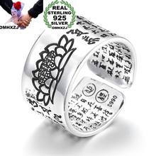 OMHXZJ Wholesale European Fashion Woman Man Party Wedding Gift Chinese Famous Words Engraved Open Taiyin Ring RR256(China)
