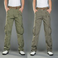 Male Grey Army Green Thicken Fighting Mens Overalls Fashion Retro Baggy Cargo Pants Men Pantalon Cargo