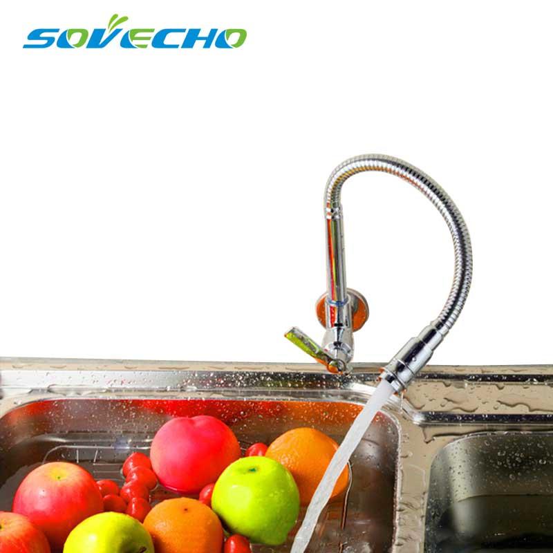 Livraison gratuite/moderne Chrome mitigeur de cuisine robinet d'eau froide robinet mural en laiton robinets de cuisine TL039