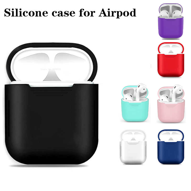 TPU Silicon Bluetooth Wireless Earphone Cases For AirPods Cover Coque Housing For Apple Air Pods Headphone Box Shell Accessories