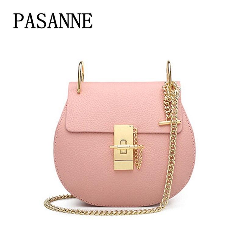 Chaîne Cuir Pink L Femmes Femme Bandoulière red Mode Fendu S 2017 Sacs Sac Chaude Fille À Pasanne Main Luxe vente En qzCwptE