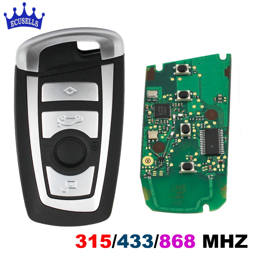Keyless 4 Buttons 315 MHZ/433 MHZ/868 MHZ Smart Remote Key for BMW F CAS4 5 Series