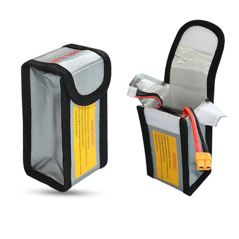 High Quality Fireproof Explosionproof RC LiPo Battery Safety Bag Safe Guard Charge Sack 125*64*50MM