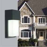 Nueva lámpara de pared Exterior 85-265 V 10 W LED Porche Luces impermeable IP65 al aire libre luz villa WCS-OWL0048