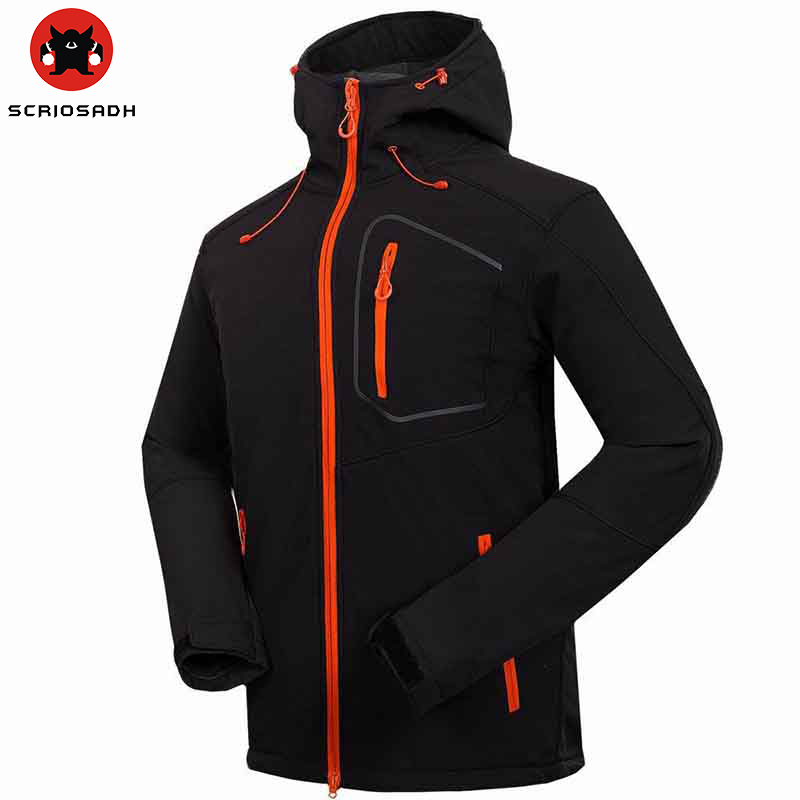 Spring Outdoor mountaineering Soft shell Men jacket hunting hiking waterproof windproof Leisure sport Fleece warm Sports jacket outdoor hiking soft shell jacket male hiking suits soft shell fleece pant sport waterproof breathable warm fleece rain jacket