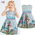 2016 Novo vestido de Marca Roupa Dos Miúdos Do Bebê Crianças Animais Do Partido Da Princesa Para As Meninas, se encaixa para tomar o seu tamanho normal Ocasional Vestidos