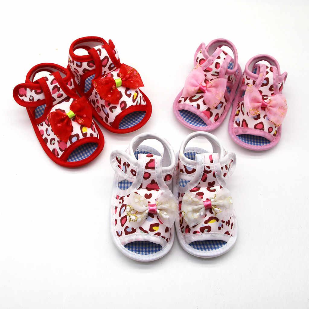 יילוד תינוק בני בנות ראשון הליכונים פעוט נעלי יילוד תינוק בנות Prewalker הדפס מנומר רך בלעדי נעליים בודדות
