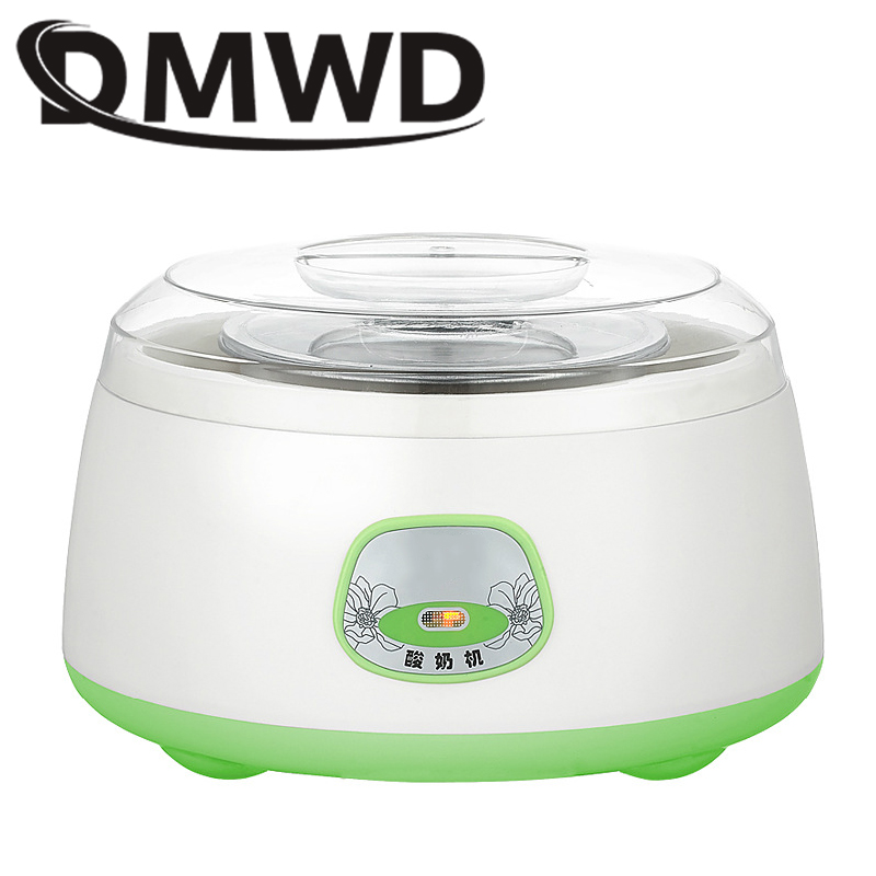 все цены на DMWD Automatic Yogurt Maker Stainless Steel Liner Leben Rice Wine Natto Fermenter DIY Yoghourt Machine Container 1L EU US Plug