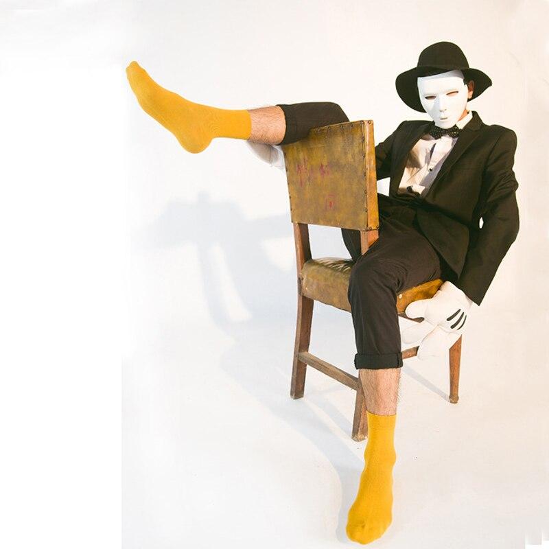 2017 Fashionable Happy Socks Men Brand 100% Cotton Plain Mens Socks Solid Long Casual Socks For Men Funny Deodorant High Quality