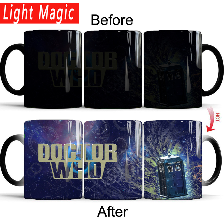 doctor who magic mug 350ml ceramic color changing mugs heat sensitive coffee mugs cup best gift for your friends or yourself