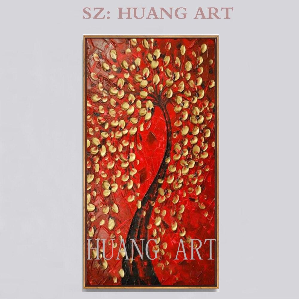 Artiste peint à la main de haute qualité Art mural moderne fleur peinture à l'huile sur toile pinceaux couteau fond bleu fleur peinture à l'huile