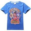 2017 Summe Niños Camiseta de la Historieta de Cinco Noches en Camisas de Freddy Niños Camisetas de Manga corta Camisetas de Algodón Para 5-14 Años de Edad niños