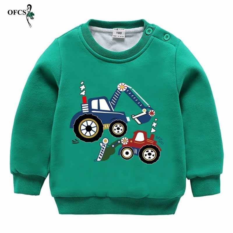Jongens Fashion T-shirt Baby Kleding Kids winter warm houden sweatershirt Fleece tops kinderen trui kap lente kleding 2-8Year