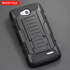 BROEYOUE Armor Case For LG L70 Rugged Impact Hard Case For LG L70 D325 D320 Shockproof Kickstand Cell Phone Back Cover Cases