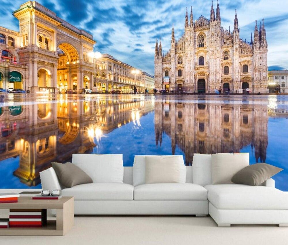 Custom 3d murals,Italy Milan Street Arch Town square city photo wallpaper,living room sofa tv wall bedroom restaurant wallpapers