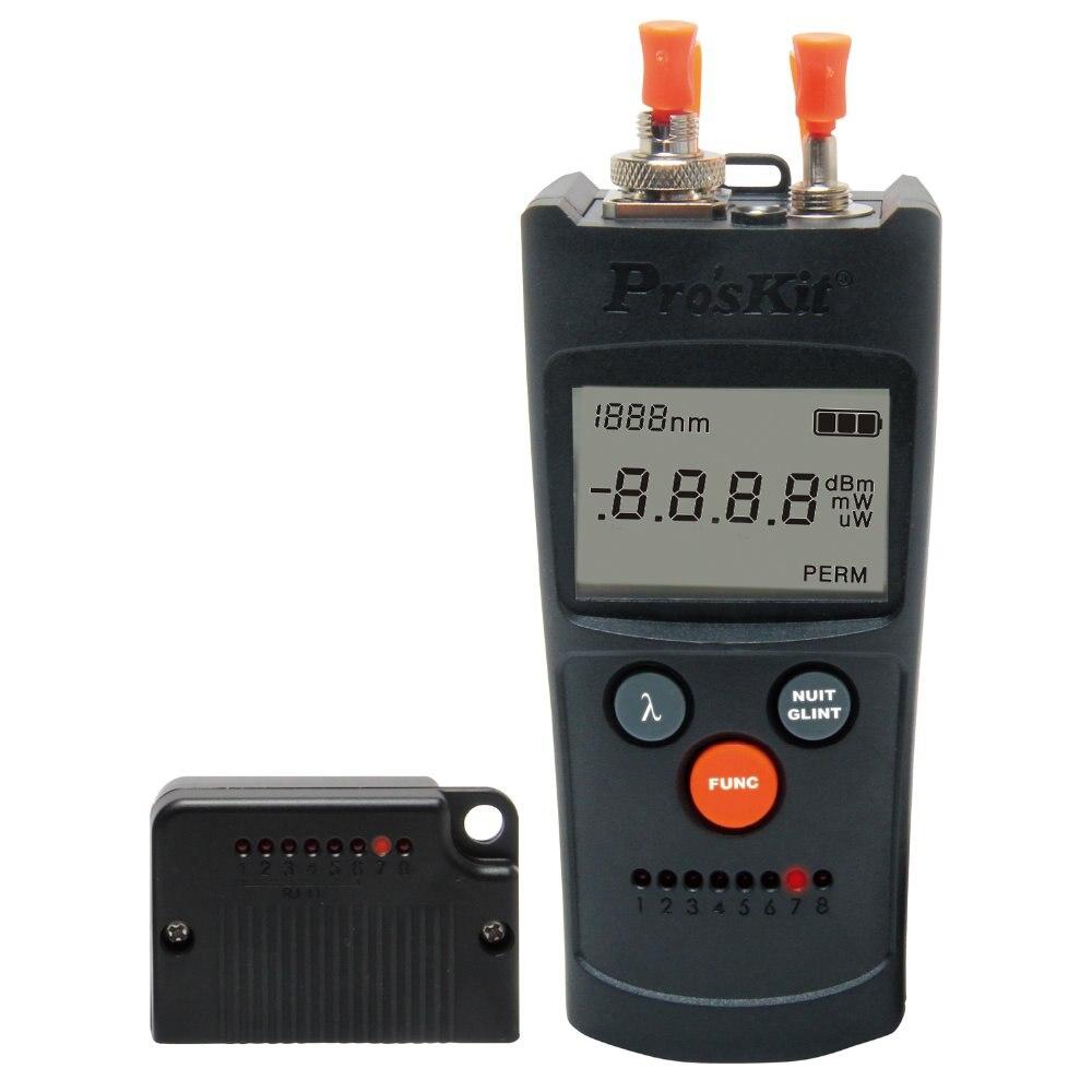 Livraison gratuite Proskit MT-7602 4 en 1 compteur de puissance à Fiber optique Six longueurs d'onde testeur de câble de réseau testeur de Fiber optique