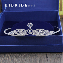 HIBRIDE Fashion Crystal Wedding Hair Accessories Bridal Tiara for Women Rhinestone Crown Hair Jewelry C-13 цена и фото