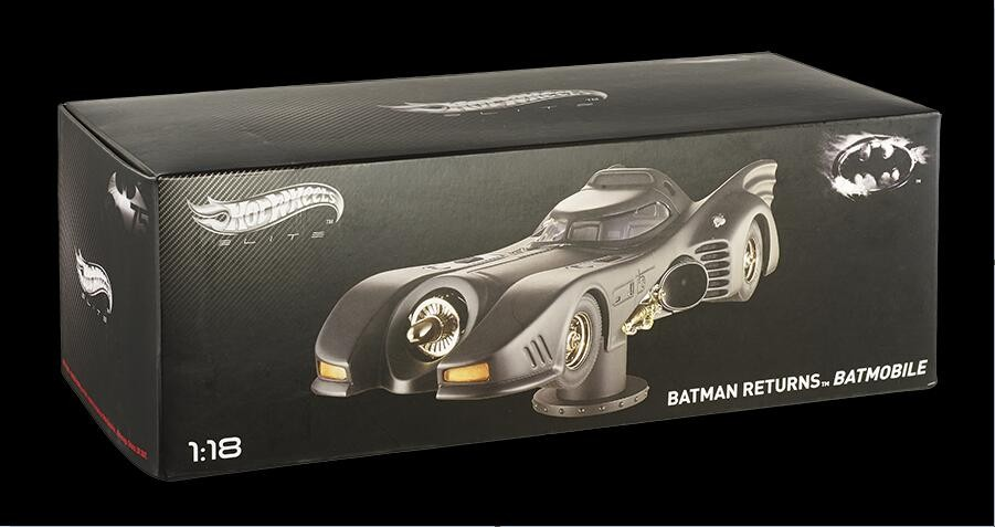 Hot Wheels 1:18 BATMAN RETURNS Batmobile Original High Simulation Car Model Alloy Limited Collection Black Movie periphery high simulation 1 18 advanced alloy car model volkswagen golf gti 1983 metal castings collection toy vehicles free shipping