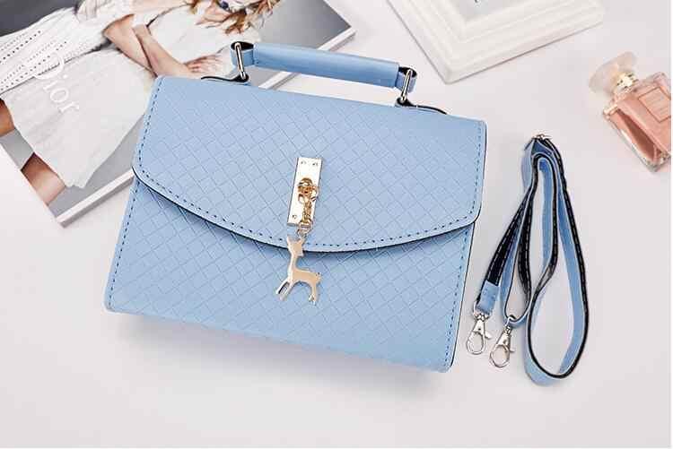 SMOOZA/Модная женская желтая женская сумка с бриллиантами, женские кожаные сумки на плечо, Повседневная Сумка-тоут, простые ручные сумки с ручкой сверху, декор в виде оленя