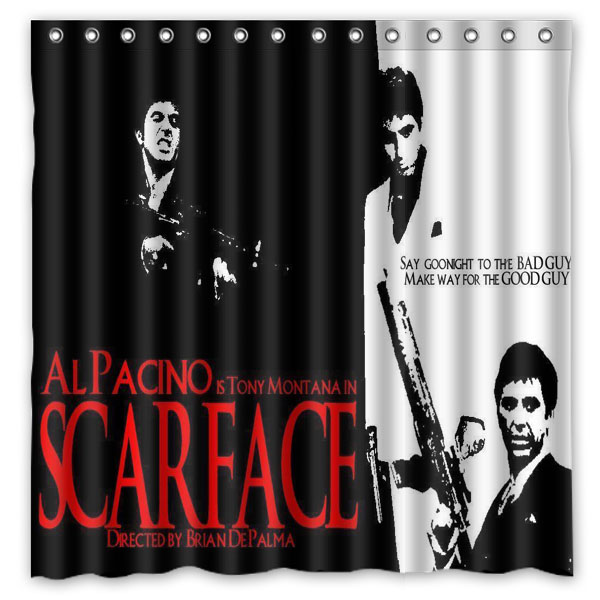 Aliexpress Buy Scarface Shower Curtains Waterproof Fabric Bath Curtain High Quality Bathroom Decorative Products 7272inch From Reliable