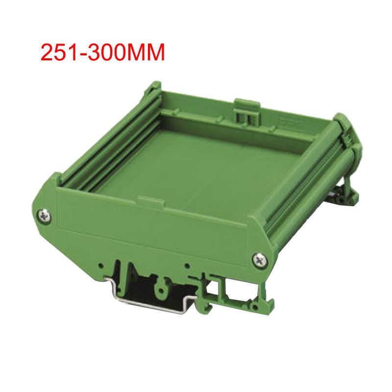 PVC PCB DIN Rail Mount Green Module Carrier Holder Durable Housing Adapter Board