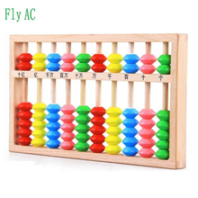 Fly AC 1 pcs Mathematical arithmetic activities Color wooden abacus Educational Baby toys