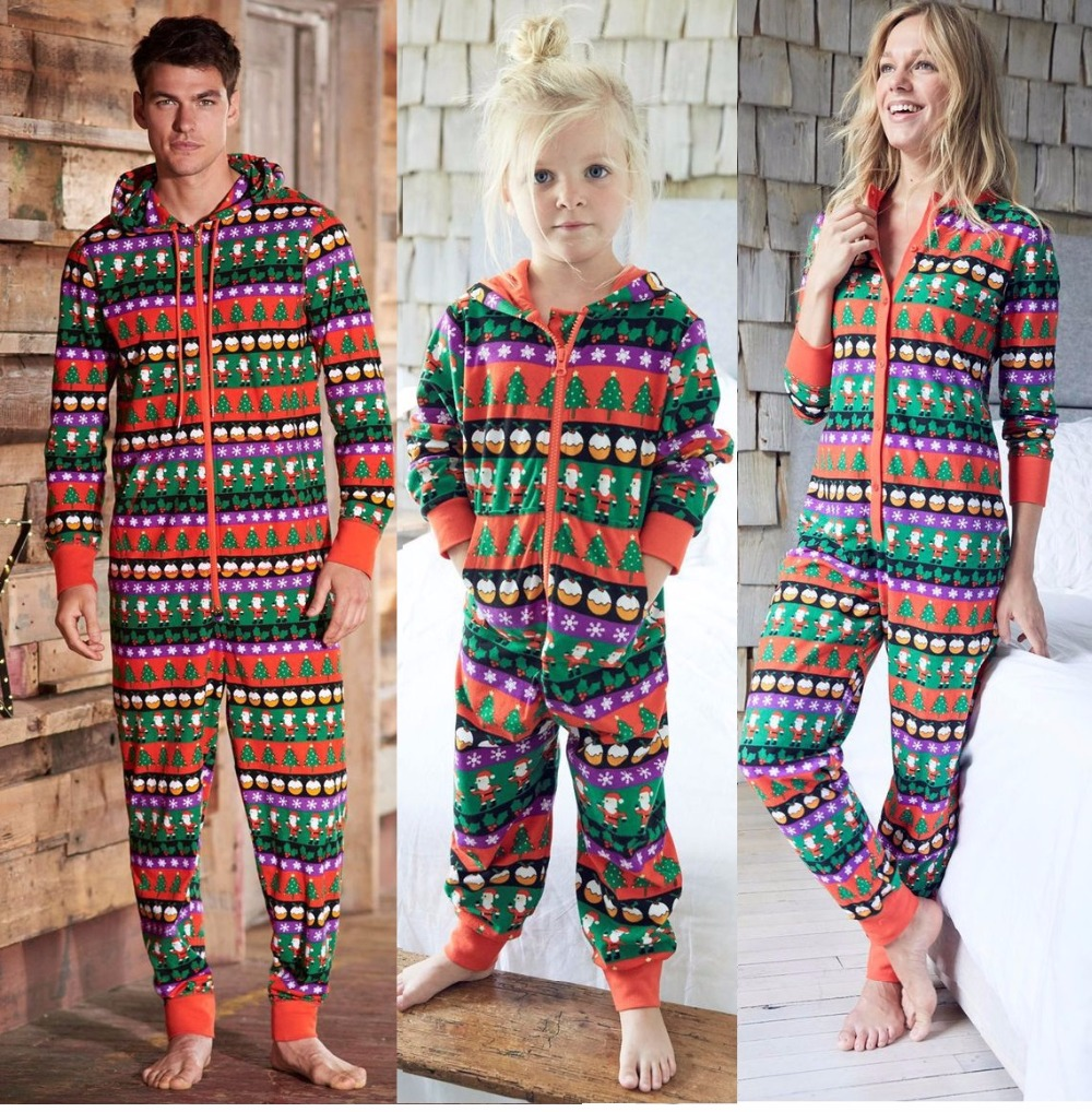 Family Look One Piece Christmas Pajamas Daddy Mommy and Me ...