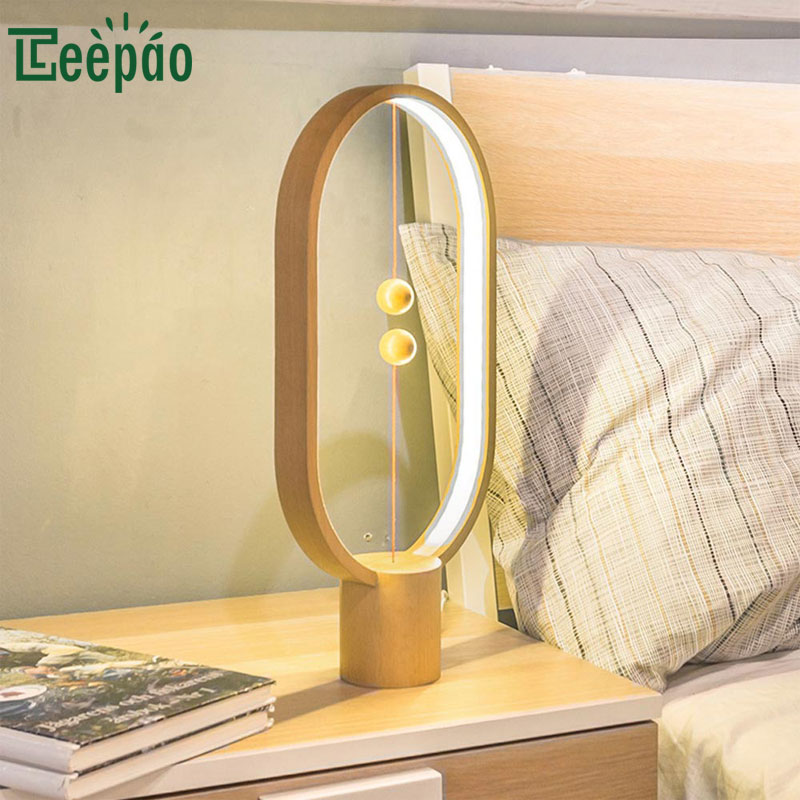 Creative Smart LED Magnetic Suspension Balance Lamp Night Light Reading Table Lamp USB Personality Modern Desk Lamp for Bedroom 3d led usb wooden night table lamp desk light modern luminaria de mesa acrylic kid bedroom bulbing creative gift abajur 110 240v
