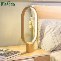 Creative Smart LED Magnetic Suspension Balance Lamp Night Light Reading Table Lamp USB Personality Modern Desk Lamp for Bedroom