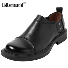 Mens Leisure Shoes men casual natural leather loafers British retro shoes all-match cowhide mens luxury designer