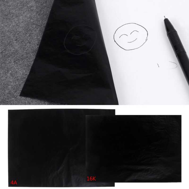 100 шт. A4 черная односторонняя углеродистая бумага s трафарет ручной профессиональный копир углеродная бумага школьные офисные канцелярские принадлежности
