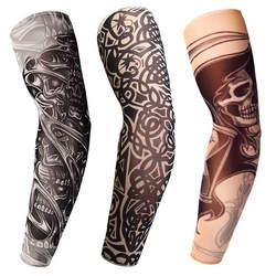 3D татуировки Напечатаны Открытый Велоспорт теплые рукава УФ Защита MTB велосипед велосипедный спорт рукава рука защиты избавления рука