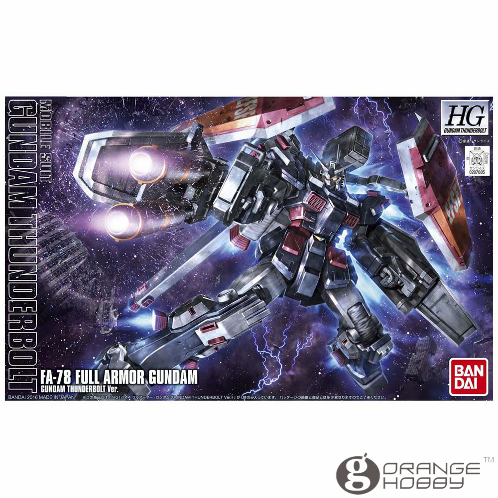 OHS Bandai HG Thunderbolt 07 1/144 FA-78 Full Armor Gundam Animation Ver Mobile Suit Assembly Model KitsOHS Bandai HG Thunderbolt 07 1/144 FA-78 Full Armor Gundam Animation Ver Mobile Suit Assembly Model Kits