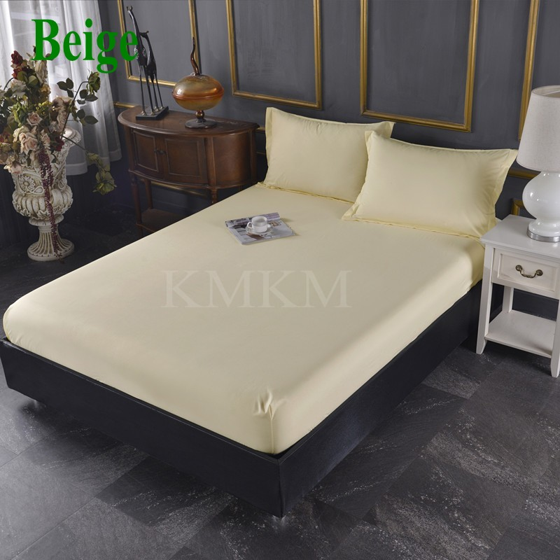 beige bed sheet