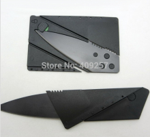 100PCS/Lot Wallet Folding Safety Mini Pocket Knife Tactical Rescue Knife Black Credit card knife tools outdoor with logo