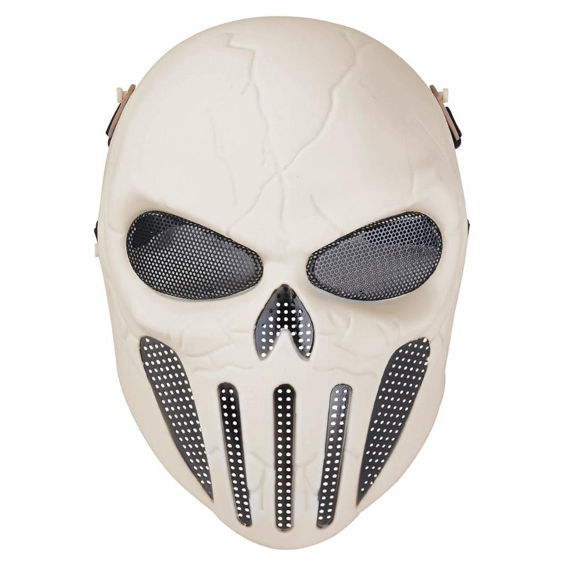 DC12 Army Tactical Airsoft Punisher Skull Protective Full Face Mask Military Wargame Paintball Hunting Cosplay Halloween Party