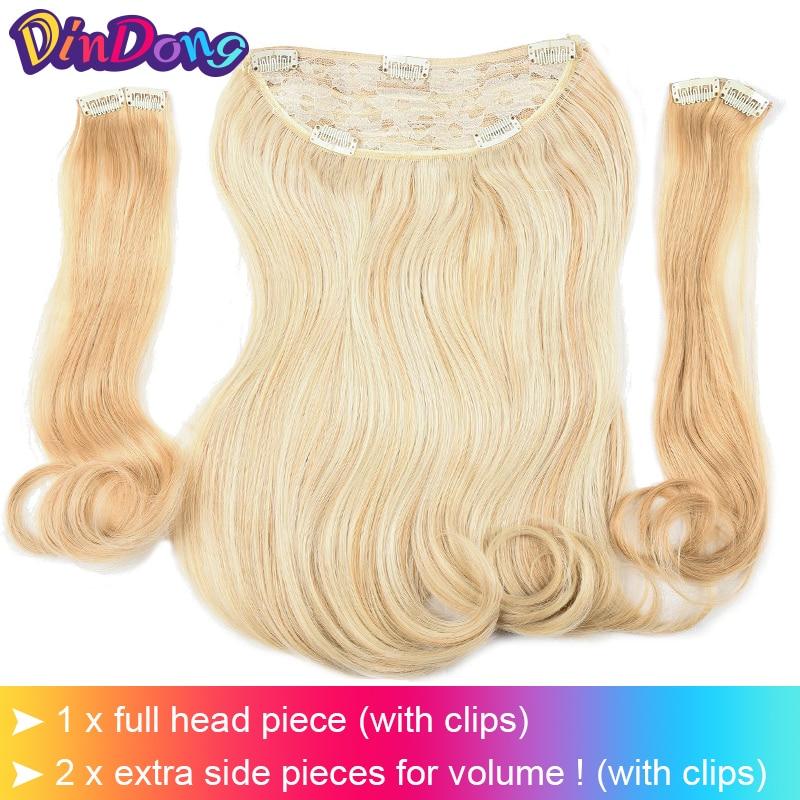 DinDong 18 tums osynliga osynliga hårstycken Syntetisk fisklinje - Syntetiskt hår - Foto 4