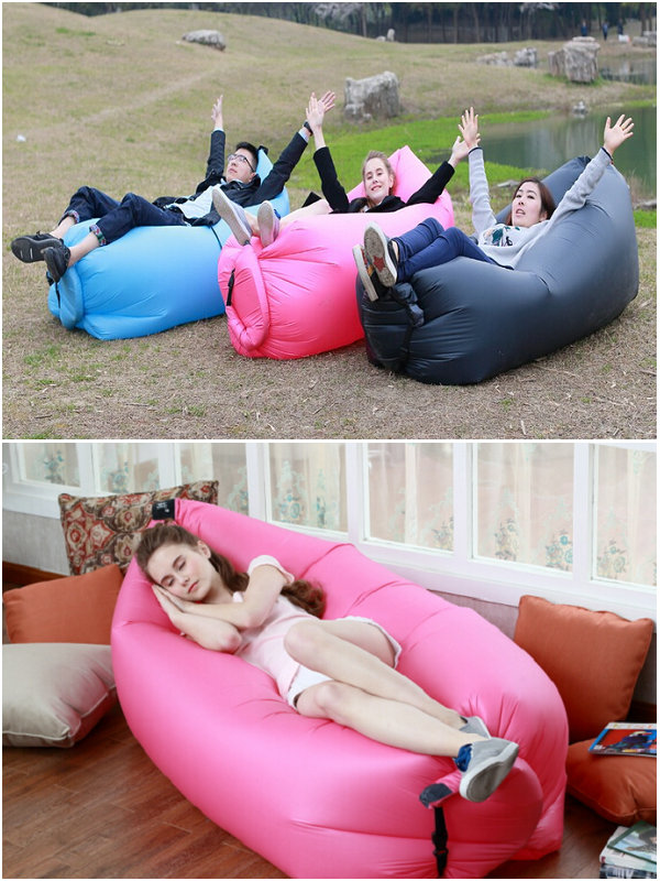 New Design Instantly Inflatable Sofa Lazy Bag Outdoor or Indoor Simple Easy  to Carry Interflateble Bean Bag air-in Garden Sofas from Furniture on ...