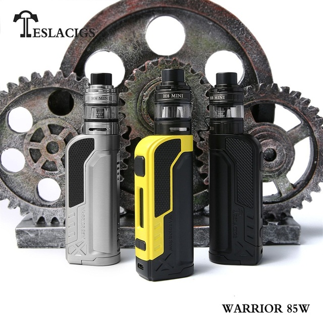 100% Original Tesla Warrior 85W Starter Kit H8 Mini Tank Mini-E4 Coil teslacigs Warrior 85 Vape pen Electronic Cigarette kit