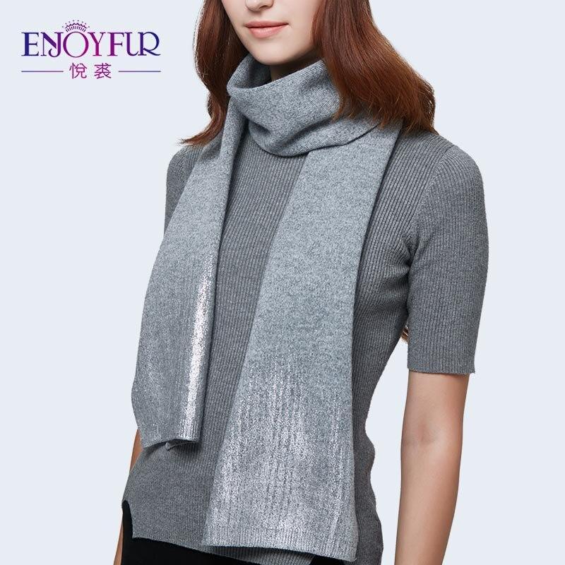 ENJOYFUR Women Knitted Wool Scarf High Quality Soft Scarves For Autumn Fashion Girls Scarf