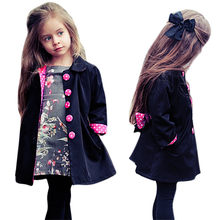 7fd9f9896 Jacket Baby For Girls Dot Belt Coat Windbreaker Winter Warm Trench Outwear Cloak  Toddler Kids Clothes Parkas Dropshipping 823