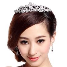 Hot Butterfly Tiara Crystal Rhinestone Jewelry Fashion hair accessories for Wedding Bridal Party 5U6F 6SOR 7ESL