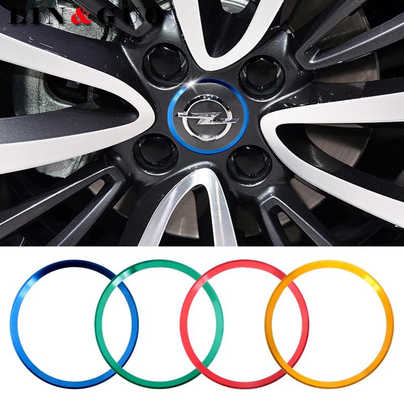 4 pcs lot New Refitting accessories Car Wheel center decorative circle fit for OPEL Corsa Insignia Astra Antara Meriva Zafira