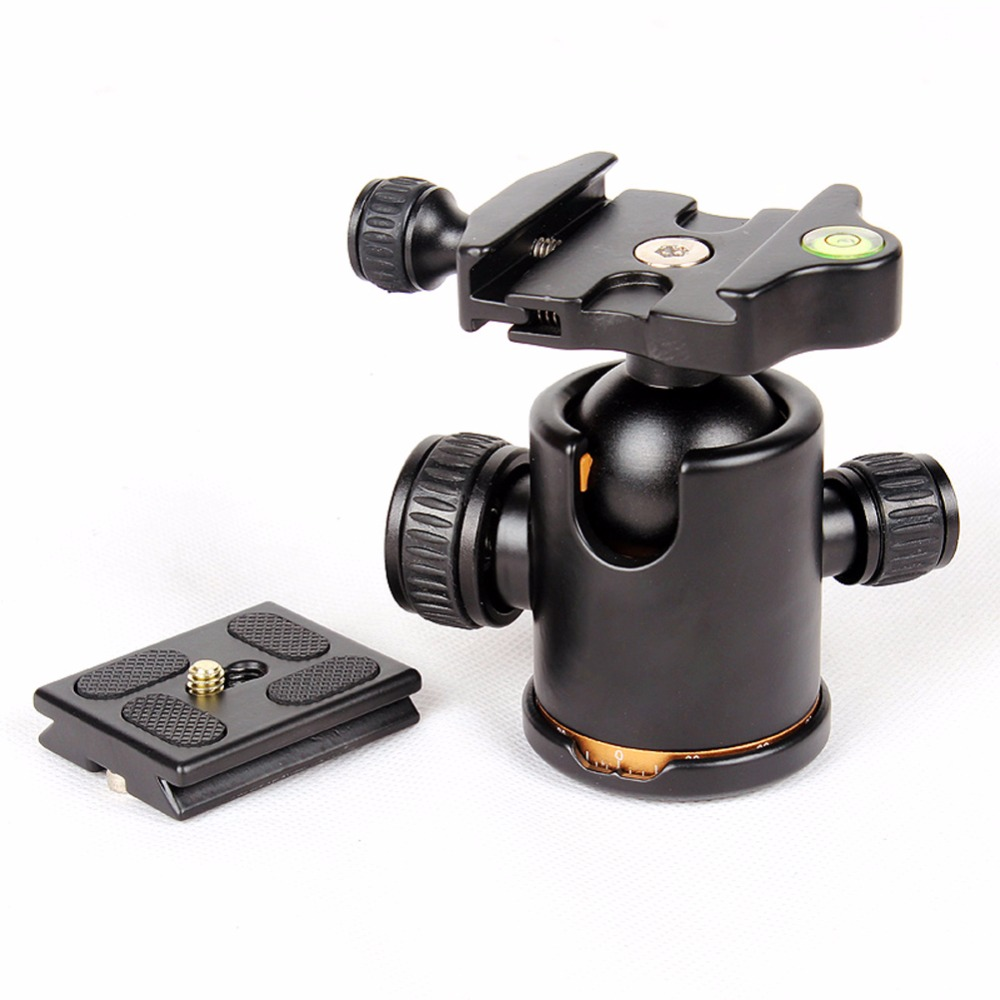 2017 Hot Professional Camera Tripod Head Ball Head with Quick Release Plate 1/4 Screw Max Load 8kg Tripod Headball ms 004h camera professional tripod ball