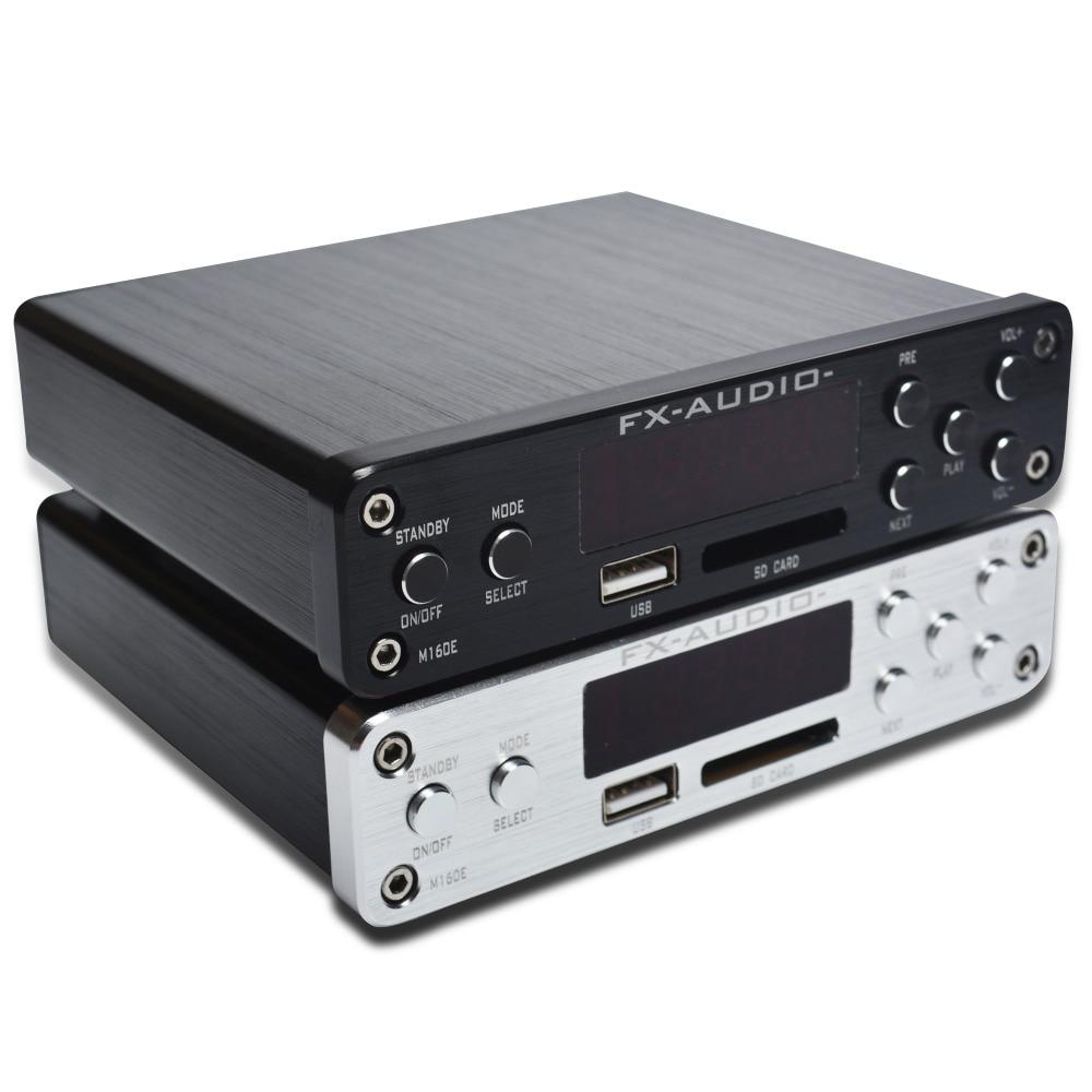 FX-Audio M-160E Bluetooth@4.0 Digital Audio Amplifier Input USB/SD/AUX/PC-USB Loseless Player For APE/WMA/WAV/FLAC/MP3 160W*2 appj pa1601a newest 2016 wifi 6j1 6p14 tube mini headphone amplifier usb pc u disk sd card aux input